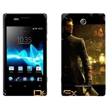 Виниловая наклейка «Адам Дженсен - Deus Ex 3» на телефон Sony Xperia E/Xperia E Dual