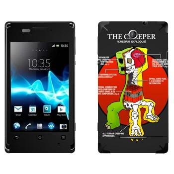 Виниловая наклейка «Анатомия крипера - Minecraft» на телефон Sony Xperia E/Xperia E Dual