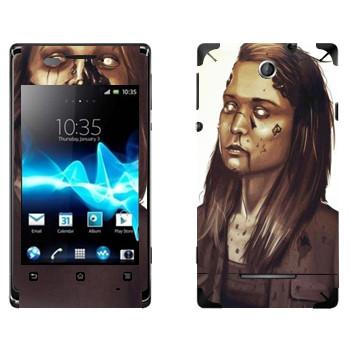 Виниловая наклейка «Dying Light - девочка зомби» на телефон Sony Xperia E/Xperia E Dual