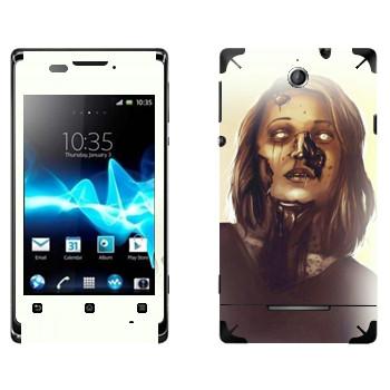 Виниловая наклейка «Dying Light - мама зомби» на телефон Sony Xperia E/Xperia E Dual