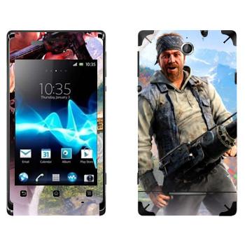 Виниловая наклейка «Far Cry 4 - Хёрк» на телефон Sony Xperia E/Xperia E Dual