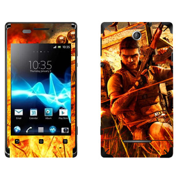 Виниловая наклейка «Far Cry борьба» на телефон Sony Xperia E/Xperia E Dual