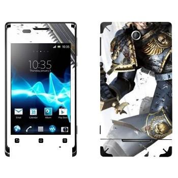 Виниловая наклейка «Космический пехотинец - Warhammer 40k» на телефон Sony Xperia E/Xperia E Dual