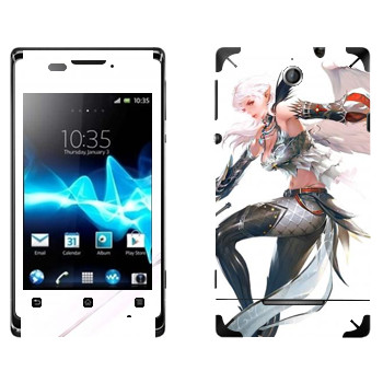 Виниловая наклейка «Lineage Камаэль» на телефон Sony Xperia E/Xperia E Dual