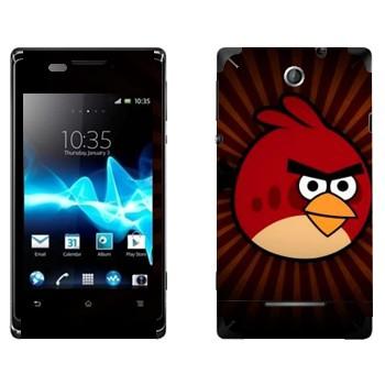 Виниловая наклейка «Рэд - Angry Birds» на телефон Sony Xperia E/Xperia E Dual
