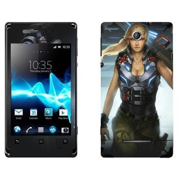 Виниловая наклейка «Shards of war Джемини» на телефон Sony Xperia E/Xperia E Dual