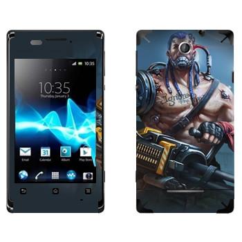 Виниловая наклейка «Shards of war Вулкан» на телефон Sony Xperia E/Xperia E Dual