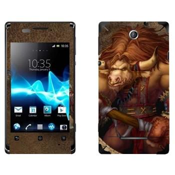 Виниловая наклейка «Таурен - Игра - World of Warcraft» на телефон Sony Xperia E/Xperia E Dual