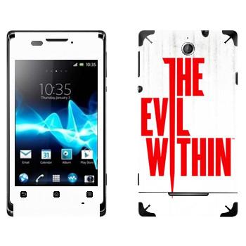 Виниловая наклейка «The Evil Within - Логотип» на телефон Sony Xperia E/Xperia E Dual