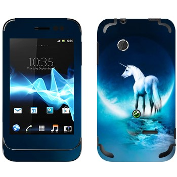 Виниловая наклейка «Единорог» на телефон Sony Xperia Tipo