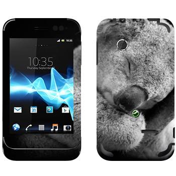 Виниловая наклейка «Коала спит» на телефон Sony Xperia Tipo