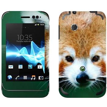 Виниловая наклейка «Красная панда» на телефон Sony Xperia Tipo