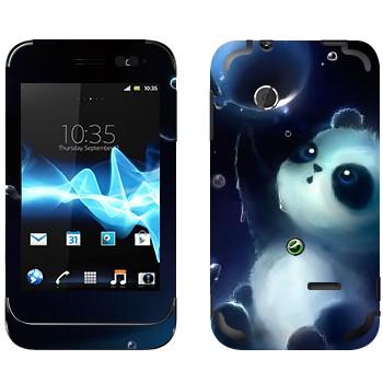 Виниловая наклейка «Панда и мыльный пузырь» на телефон Sony Xperia Tipo