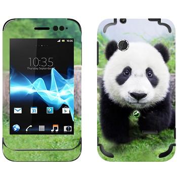 Виниловая наклейка «Панда в природе» на телефон Sony Xperia Tipo