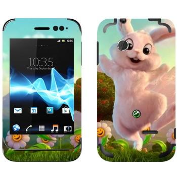 Виниловая наклейка «Розовый кролик» на телефон Sony Xperia Tipo